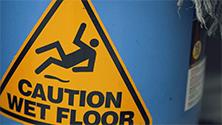 Identify and prevent common slip hazards