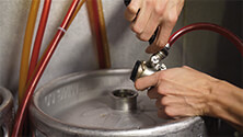 Changing and tapping kegs