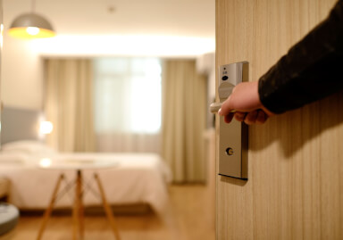 Security tips for entering guest rooms