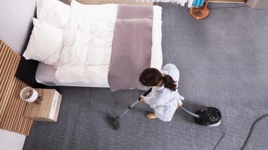 Vacuuming floors