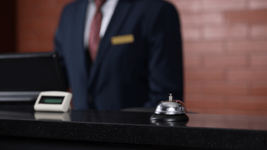 Welcome - Front desk check-in and check-out