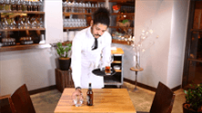 How to clear glassware from a table