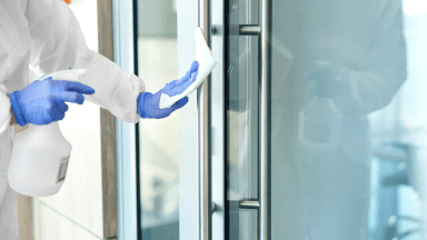 PPE for infection cleaning