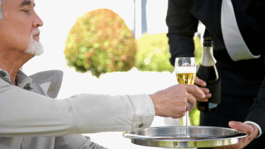 Serving wine, champagne, and beverages