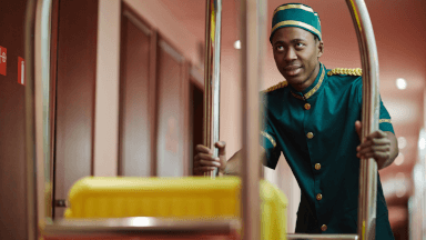 The role of the hotel porter