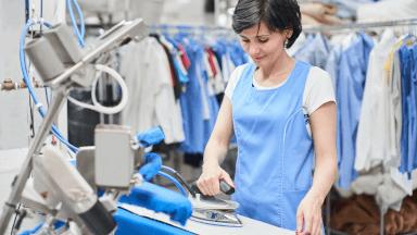Post-washing ironing operations