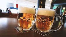 The alcohol content of German beer