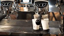 Making takeaway espresso drinks